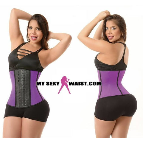 MYSEXYWAIST SHORT PURPLE DIVA SPORT LATEX TRAINER - The Mysexywaist.com Store