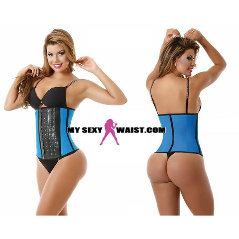 MYSEXYWAIST SHORT BLUE DIVA SPORT LATEX TRAINER