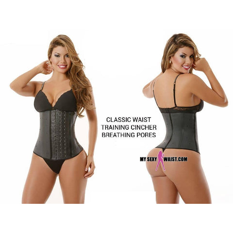 MYSEXYWAIST (3ROW) BREATHING PORES CLASSIC SNATCH LATEX CINCHER