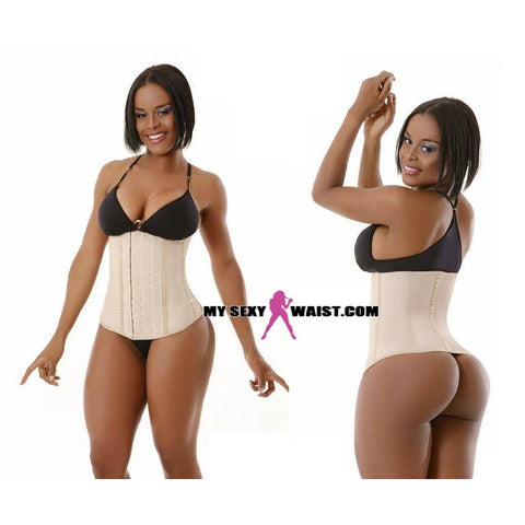 MYSEXYWAIST NUDE CLASSIC (4 ROW) SNATCH LATEX CINCHER - The Mysexywaist.com Store