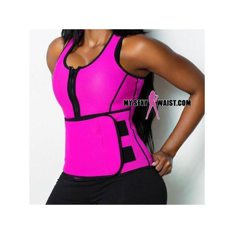 PINK HOTSauna SHAPER NEOPRENE WORKOUT VEST - The Mysexywaist.com Store