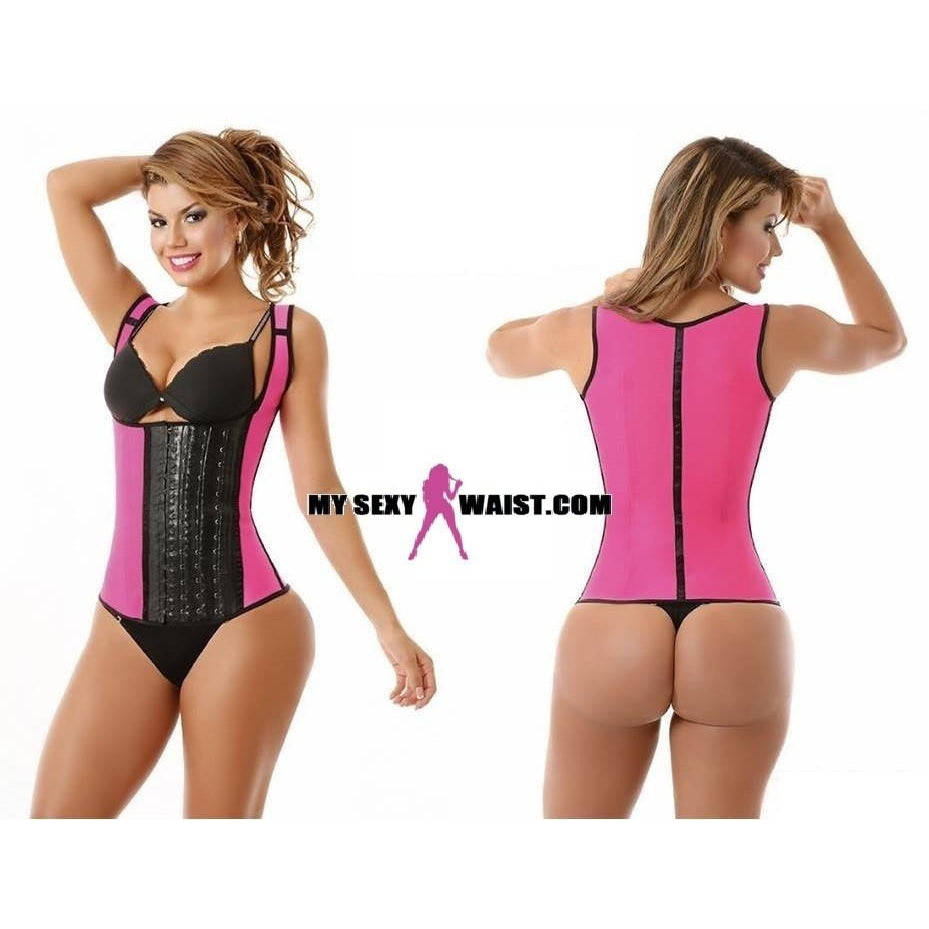 62a4648131a MYSEXYWAIST PINK DIVA SPORT LATEX VEST TRAINER (THICK STRAP) - The  Mysexywaist.com Store