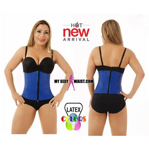 MYSEXYWAIST DIVA CLASSIC CLIP & ZIP LATEX COLOR TRAINER - The Mysexywaist.com Store
