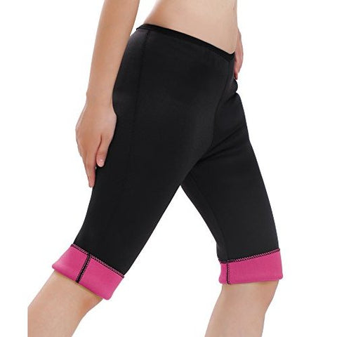 NEOPRENE SWEAT PANTS (BLACK & PINK) - The Mysexywaist.com Store