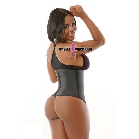 MYSEXYWAIST BLACK CLASSIC (4 ROW) SNATCH LATEX CINCHER - The Mysexywaist.com Store