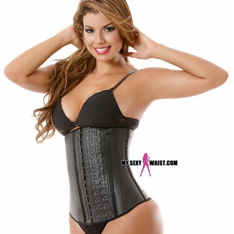 MYSEXYWAIST BLACK CLASSIC (3 ROW) SNATCH LATEX CINCHER