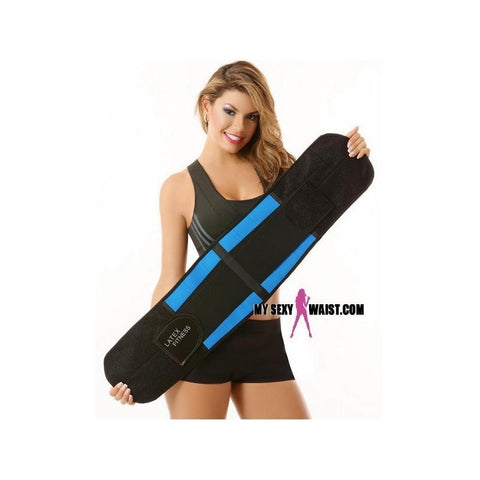 MYSEXYWAIST BLUE LATEX FITNESS SNATCH BELT