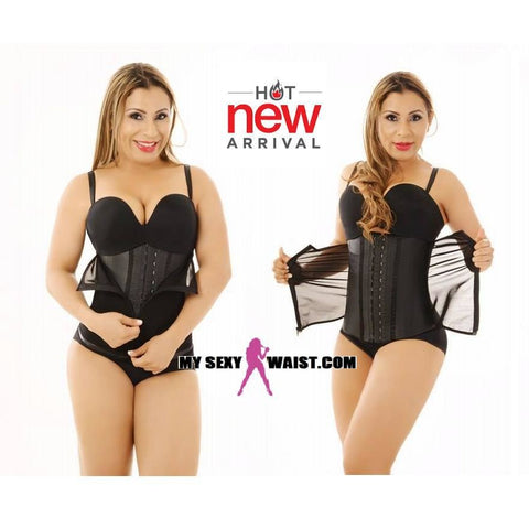 MYSEXYWAIST CLASSIC DIVA POWERNET LATEX HOOK CLIP & ZIP TRAINER