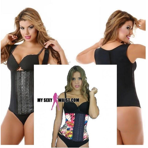 MYSEXYWAIST COMIC SNATCH PRINT VEST LATEX CINCHER (THICK STRAP) - The Mysexywaist.com Store