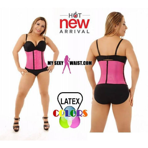 MYSEXYWAIST DIVA CLASSIC PINK LATEX COLOR TRAINER - The Mysexywaist.com Store