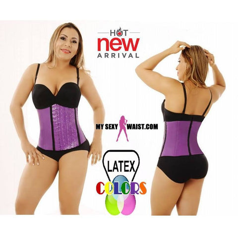 MYSEXYWAIST DIVA CLASSIC PURPLE LATEX COLOR TRAINER