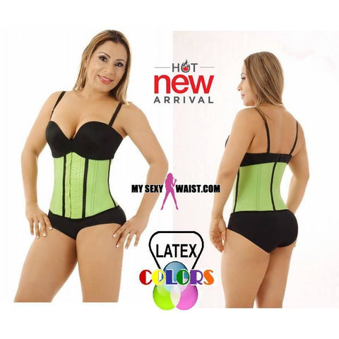 MYSEXYWAIST DIVA CLASSIC NEO GREEN LATEX COLOR TRAINER