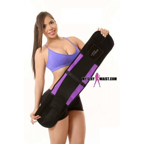 MYSEXYWAIST PURPLE LATEX FITNESS SNATCH BELT