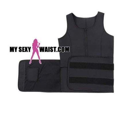 BLACK HOTSauna SHAPER NEOPRENE WORKOUT VEST - The Mysexywaist.com Store