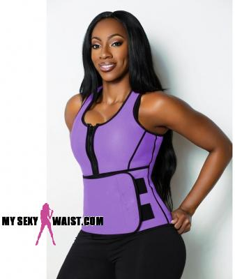 PURPLE HOTSauna SHAPER NEOPRENE WORKOUT VEST - The Mysexywaist.com Store