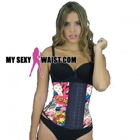MYSEXYWAIST COMIC PRINT SNATCH LATEX CINCHER - The Mysexywaist.com Store