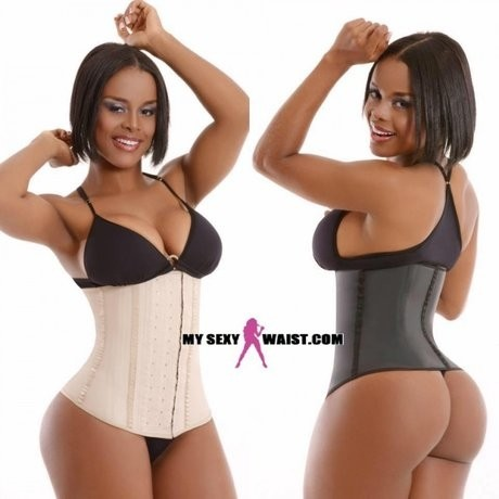 MYSEXYWAIST BLACK CLASSIC (2 ROW) SNATCH LATEX CINCHER - The Mysexywaist.com Store