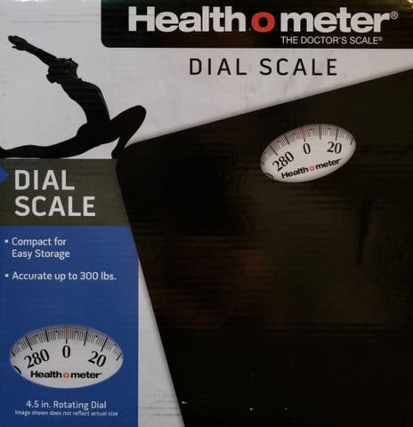 HealthOMeter Compact Floor Dial Scale 300 lbs (Lbs Only) - The Mysexywaist.com Store