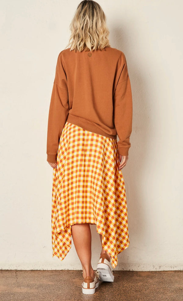 The Others Slouchy Camel Bolt Sweater