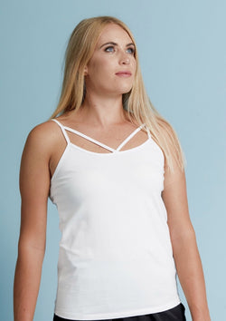 Mi Moso Cross Over Tank White
