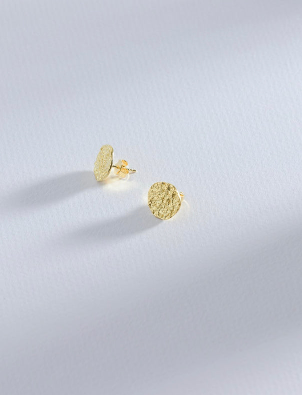 Stella + Gemma BLACK: Crater 14K Gold Earrings