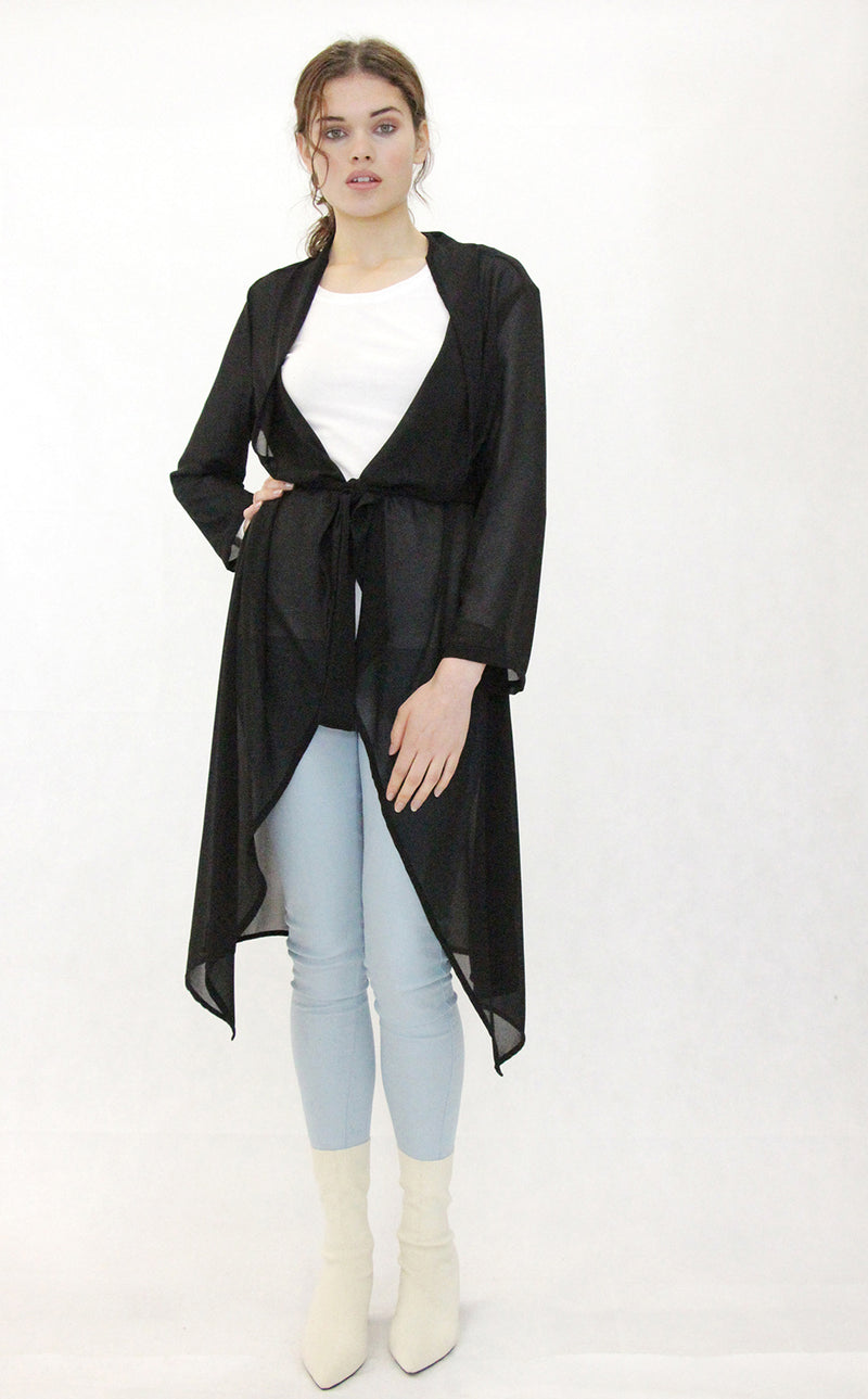 Jaclyn M Liddy Georgette Duster Coat