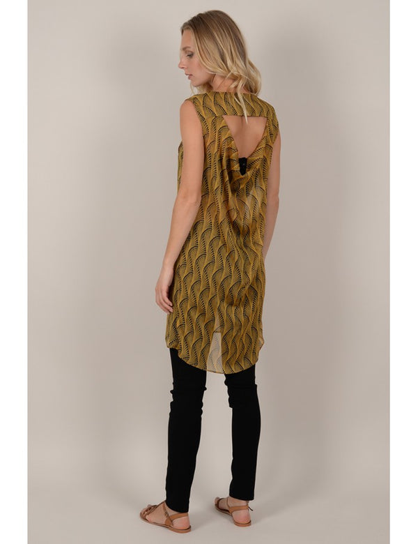Molly Bracken Mustard Print Tunic