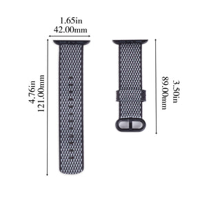 Nylon Apple Watch Band (Woven: Black and White)