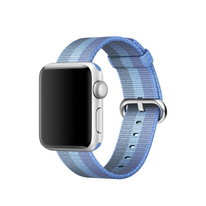 Nylon Apple Watch Band (Stripe: Double Blue Striped)