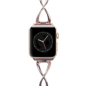 Apple Watch Band for Women - Stainless Steel - Compatible  for Series 4 3 2 1 - Gold