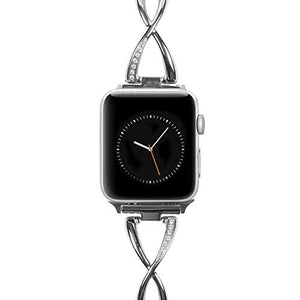 Apple Watch Band for Women - Stainless Steel - Compatible for Series 4 3 2 1 - Silver