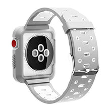 Apple Watch Band - Silicone with Built in Bumper - Series 3 2 1 (Gray and White)