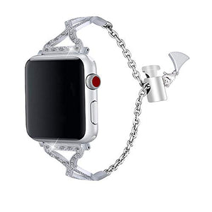 Apple Watch Band  – Stainless Steel and Crystals - Compatible for Series 4 3 2 1