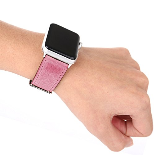 Leather Apple Watch Replacement Band (Pastel: Pink)
