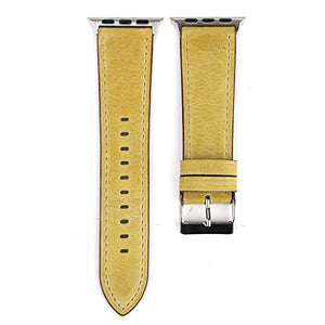Leather Apple Watch Replacement Band (Pastel: Yellow)
