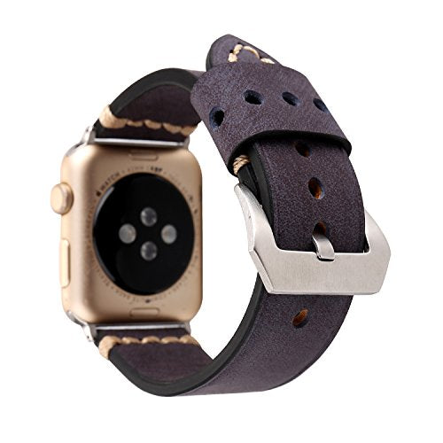 Genuine Leather Apple Watch Band (Big Loop Blue)