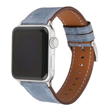 Genuine Leather Apple Watch Replacement Band  (Light Blue)