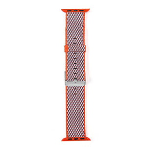 Nylon Apple Watch Band (Woven Orange)