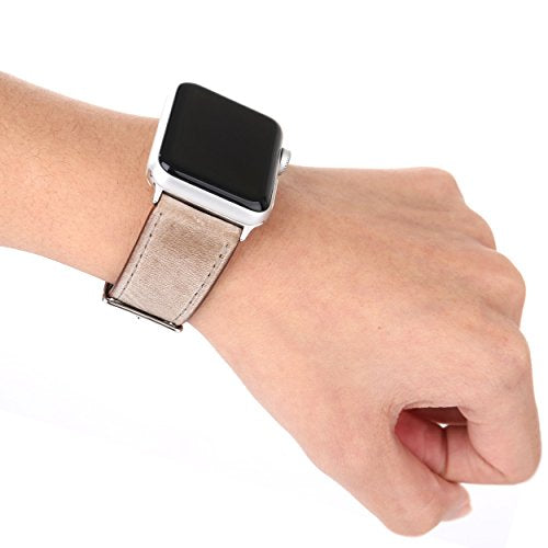 Leather Apple Watch Replacement Band (Pastel: Tan)