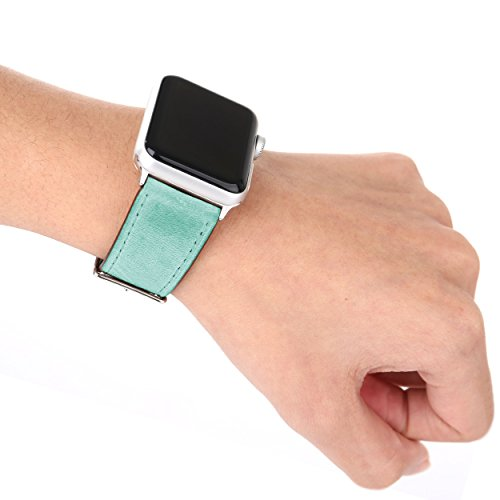 Leather Apple Watch Replacement Band (Pastel: Teal)