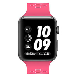 Apple Watch Silicone Band (Dark Pink with Pink)