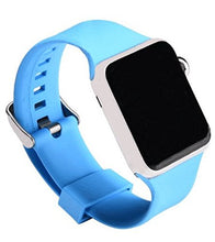 Apple Watch Silicone Band (Solid - Light Blue)