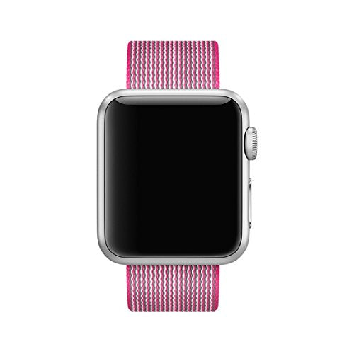 Nylon Apple Watch Band (Solid: Pink Nylon)
