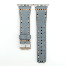 Genuine Leather Apple Watch Band (Side Stitch Gray)