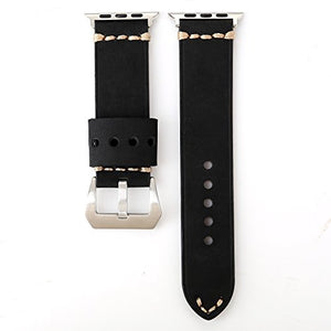 Genuine Leather Apple Watch Band (Big Loop Black)