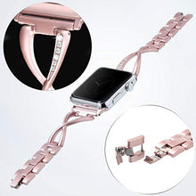 Apple Watch Band for Women - Stainless Steel - Compatible for Series 4 3 2 1 - Pink
