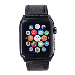 Apple Watch Band - Shiny Leather Bands(Shiny Black)
