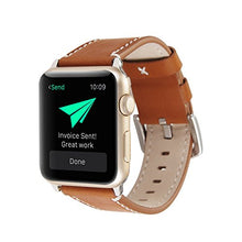 Genuine Leather Apple Watch Band (Solid Brown)
