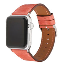 Leather Apple Watch Replacement Band for Women (Pastel: Peach)
