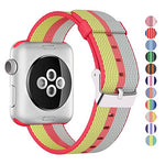 Load image into Gallery viewer, Nylon Apple Watch Band (Stripe, Red and Gold)